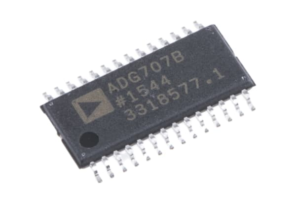Product image for ADG707BRU 8:1 diff analogue mux, TSSOP28