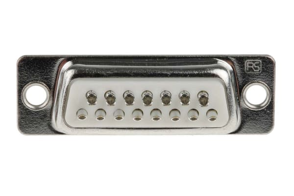 Product image for 15 way formed cont straight D plg,500Vac