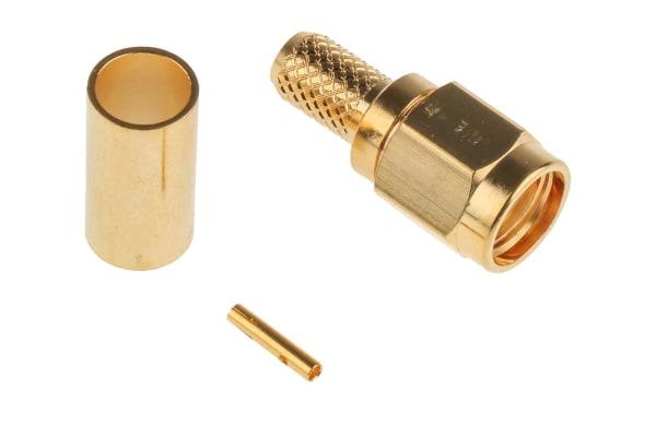 Product image for SMA crimp reverse polarity straight plug