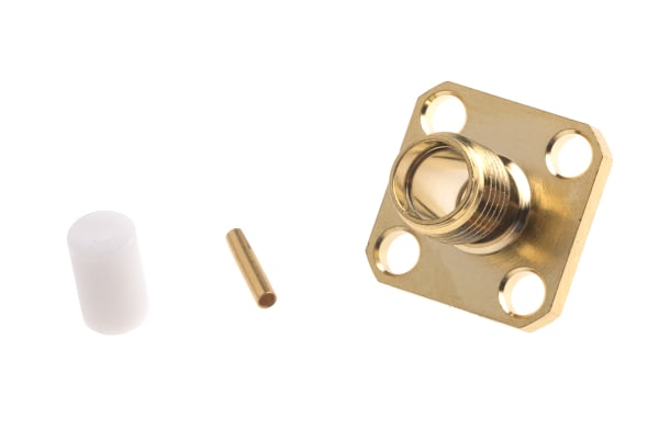 Product image for Soldered SMA panel jack for RG402 cable