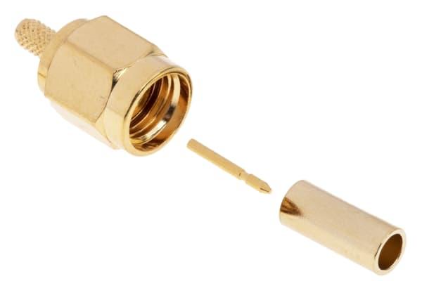 Product image for crimp SMA straight plug-RG174 B cable