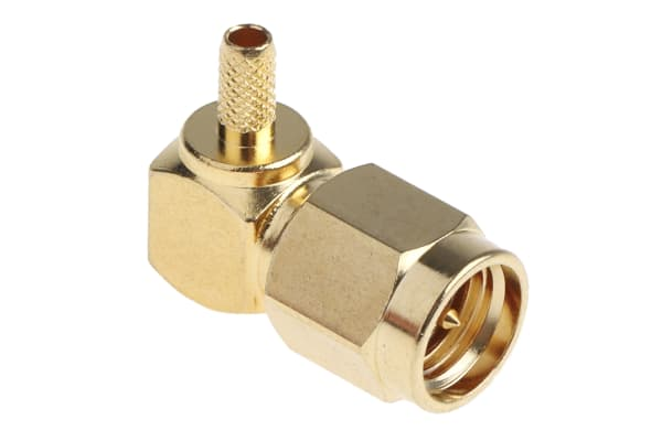 Product image for Crimp SMA elbow plug for RG174 cable
