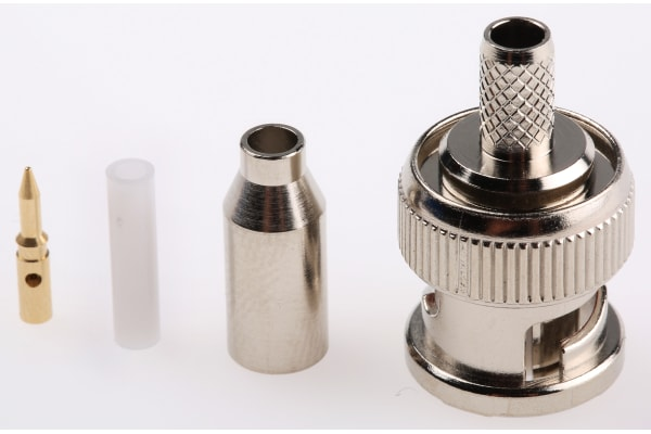 Product image for BNC 50ohm RF crimp plug RG58/U, RG174/U