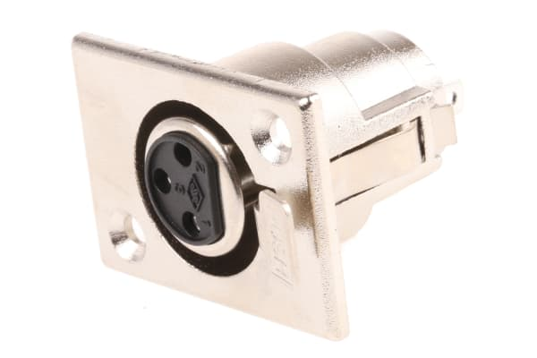 Product image for 3 way nickel finish XLR chassis socket