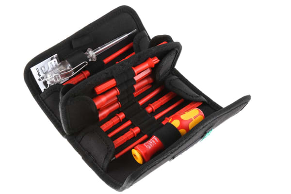 Product image for Wera Interchangeable Hexagon; Slotted; Phillips; Pozidriv; Square; Three Square; Dual Bit; Tester Screwdriver Set 18