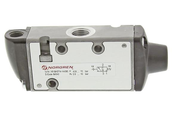 Product image for Norgren 3/2 Pneumatic Control Valve - Pilot/Spring G 1/4 V61 Series