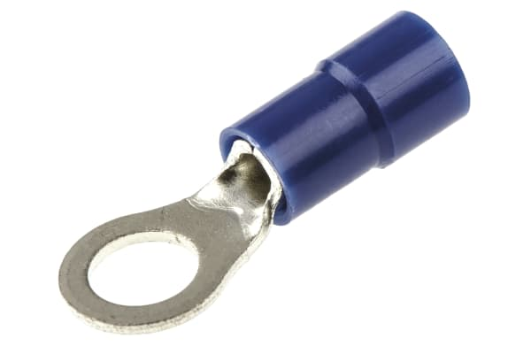 Product image for Blue M5 ring terminal,1.5-2.5sq.mm wire