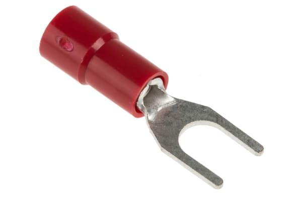 Product image for Red M4 spade terminal,0.5-1.5sq.mm wire