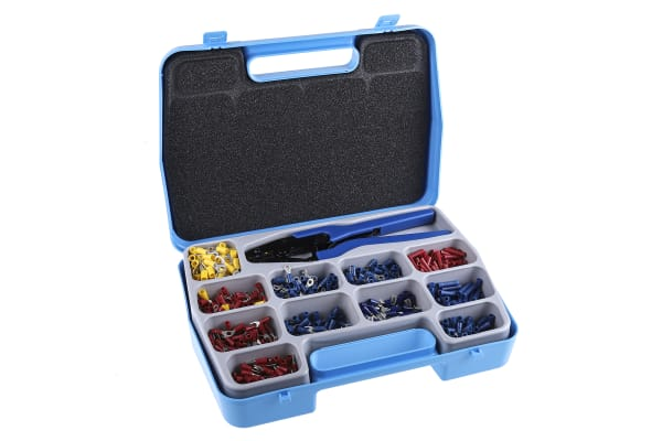 Product image for 800 piece crimp terminal kit with tool