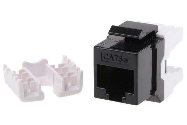 """Product image for CAT.5E 19"""" -KEYSTONE,RJ-45 BLACK"""