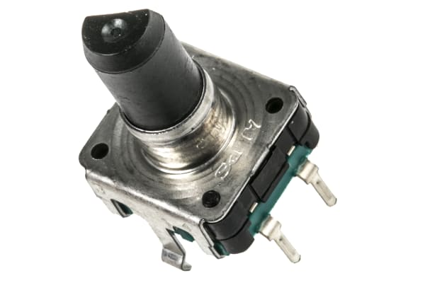Product image for ROTARY ENCODER,12MM,24PULSE,VERT,SWITCH