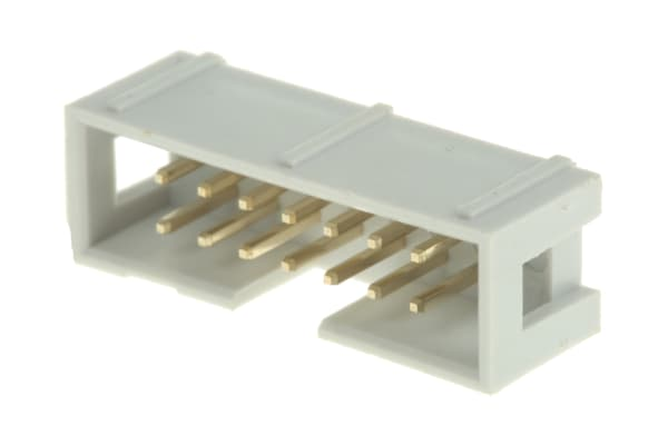 Product image for 14way IDC straight boxed header,25.7mm L