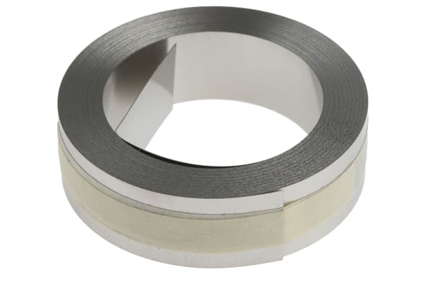Product image for 12MM X 6.4M S/STEEL TAPE FOR EMBOSS TOOL