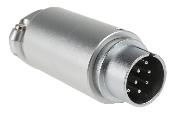 Product image for 10 WAY VIDEO CIRCULAR CABLE PLUG,15MM 5A