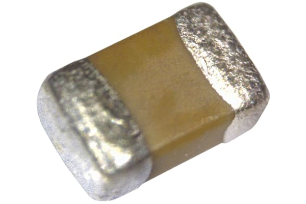 Product image for 0805 X7R ceramic capacitor, 16V 0.1uF