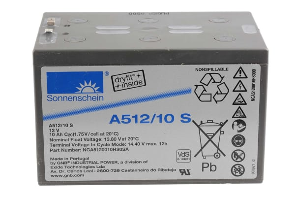 Product image for Sonnenschein NGA5120010HS0SA Lead Acid Battery - 12V, 10Ah