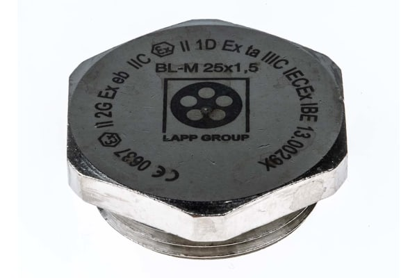 Product image for Blanking Plug M25 Metal ATEX IP68