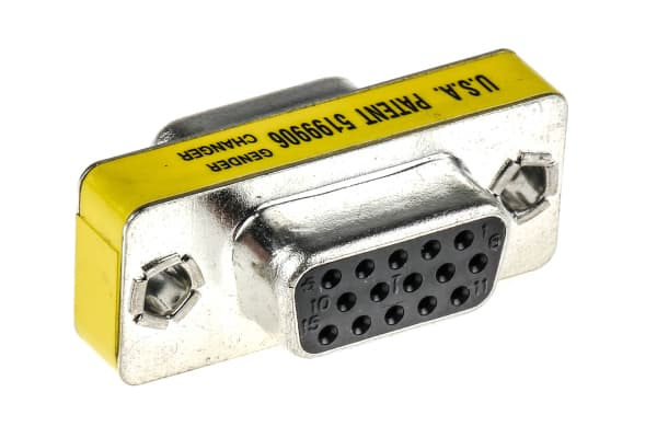 Product image for 15 PIN D TYPE FEMALE TO FEMALE VGA