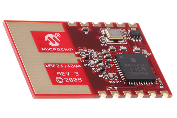 Product image for 2.4GHz ZigBeeTransceiver,MRF24J40MA-I/RM