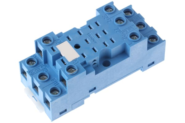 Product image for Socket DIN, blu, 11 pin for 55.33 relays
