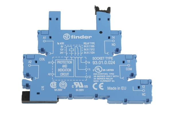 Product image for Socket DIN,12-24Vac/dc,screw terminal