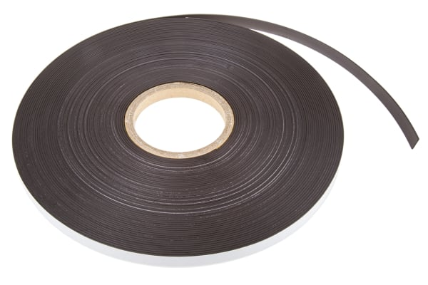 Product image for MAGNETIC STRIP,STD ADHESIVE,12.7X1.5X30