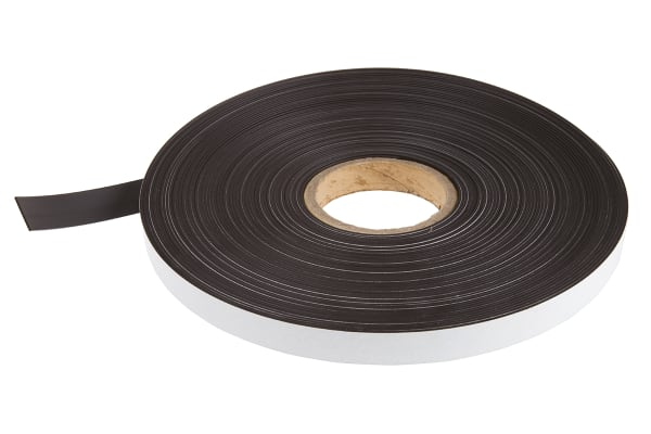 Product image for 30m Magnetic Tape, Adhesive Back, 1.5mm Thickness