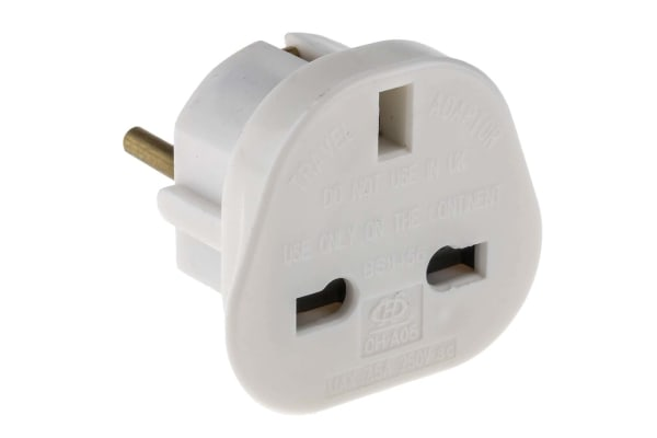 Product image for RS PRO UK to Europe Travel Adapter, Rated At 7.5A