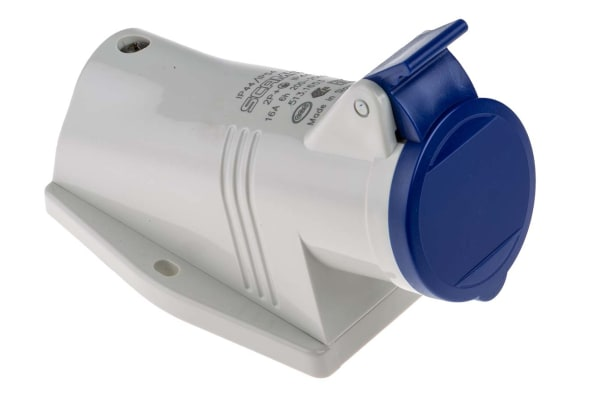 Product image for 16A 2P+E 230V Surface Socket IP44