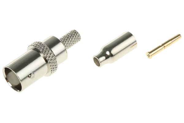 Product image for BNC jack, 50ohm, crimp, RG174A