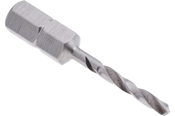 Product image for 1/4in hexagon drive drill,2.5mm dia