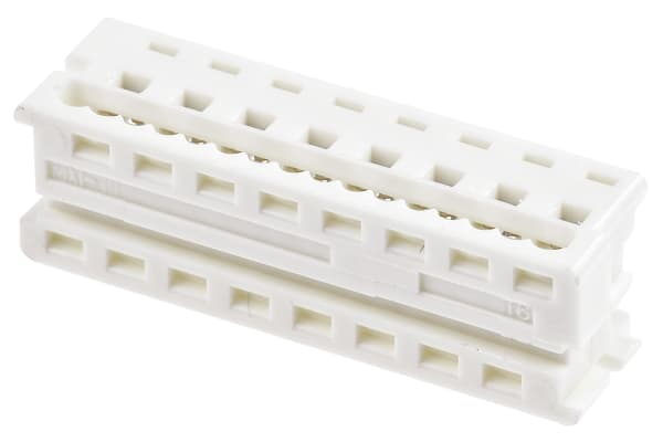 Product image for 16 way IDT housing,1.27mm pitch low prof