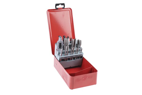 Product image for 22 piece HSS metric tap and drill set