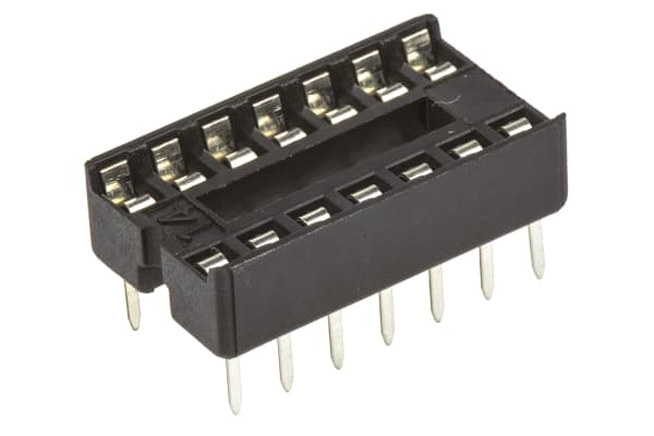 Product image for 14W IC SOCKET STAMPED CONTACTS