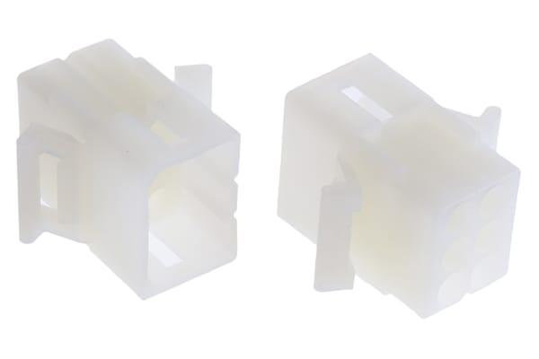 Product image for 2.36mm,housing,plug,panel mnt,2row,6way