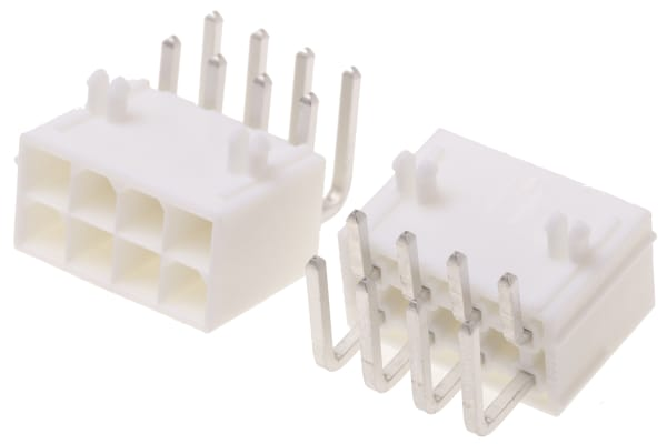 Product image for 4.20mm,housing,MiniFit,plug,90°,DR,8w