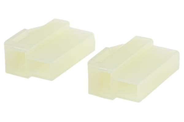 Product image for Housing, plug, 2 way, 250 lance, natural