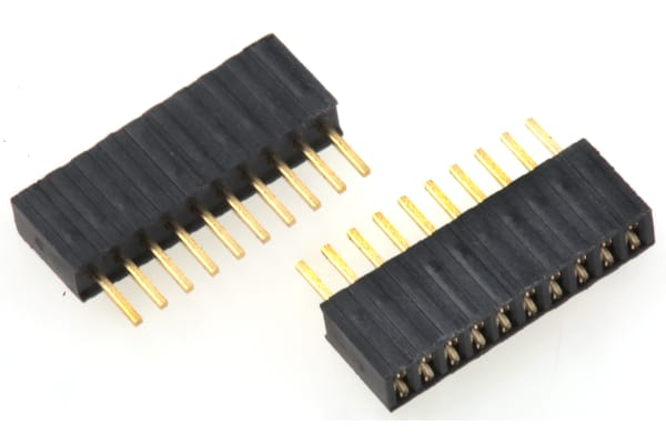 Product image for 10WAY SIL VERT SOCKET 4.6MM