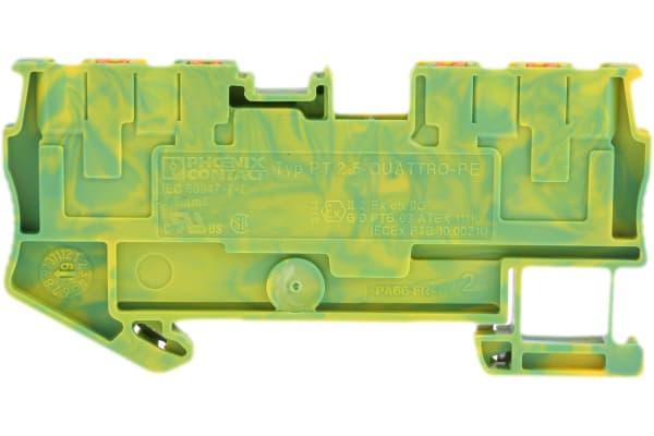 Product image for Ground terminal PT 2,5-QUATTRO-PE