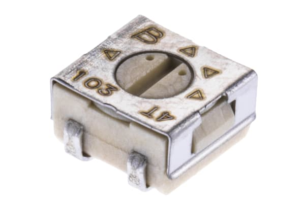 Product image for 4mm SMD Trimming Pot,1Turn,Cermet,10K