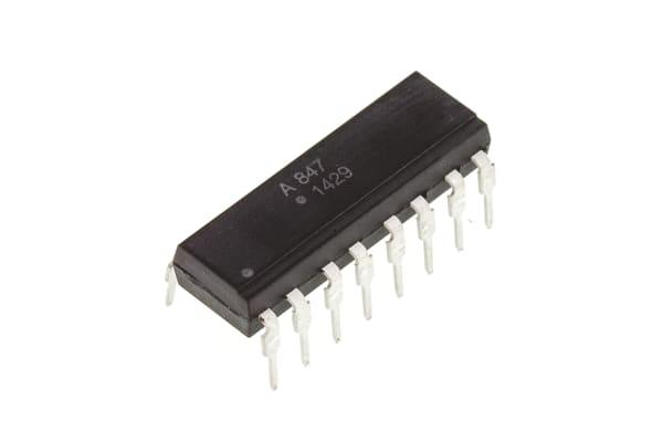 Product image for Broadcom, ACPL-847-000E DC Input Transistor Output Quad Optocoupler, Through Hole, 16-Pin PDIP