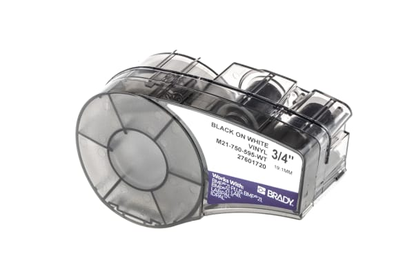 Product image for Brady Cable Label Refill Labels, For Use With BMP21 Label Printers, ID PAL Label Printers, LABPAL Label Printers