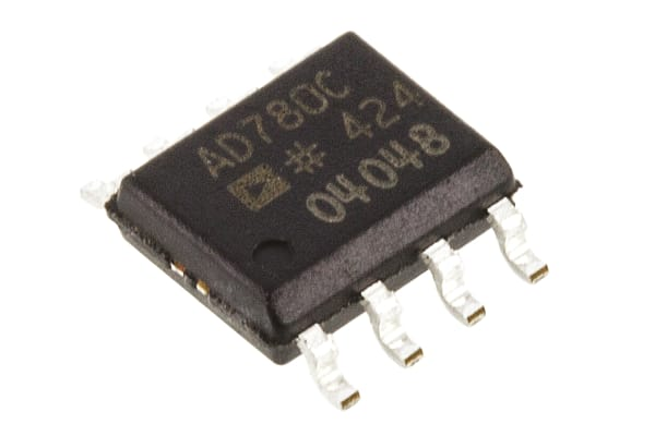 Product image for Analog Devices Programmable Series/Shunt Voltage Reference 2.5V ±0.06 % 8-Pin SOIC, AD780CRZ