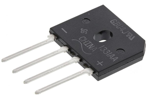 Product image for Bridge Rectifier Diode 4A 600V GBU
