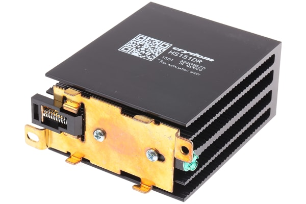 Product image for DIN Rail Solid State Relay Heatsink for use with Crydom SSR