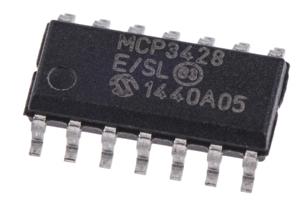 Product image for 16-bit delta-sigma ADC, quad channel