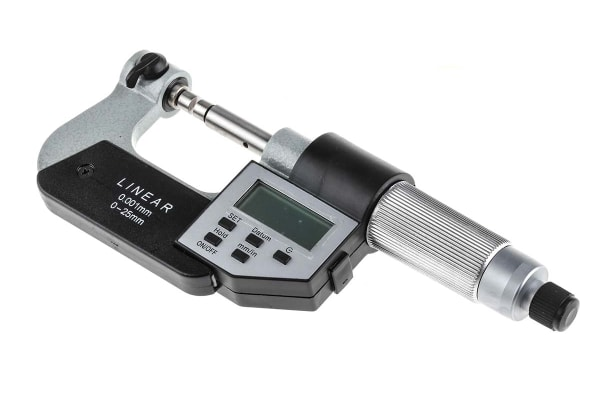 Product image for Digital Micrometer w/anvil,0-25mm/0-1in