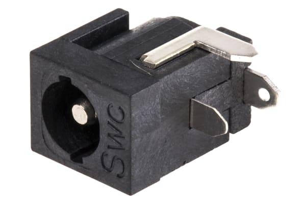 Product image for 2.5MM LOCKING DC PCB MOUNT SOCKET