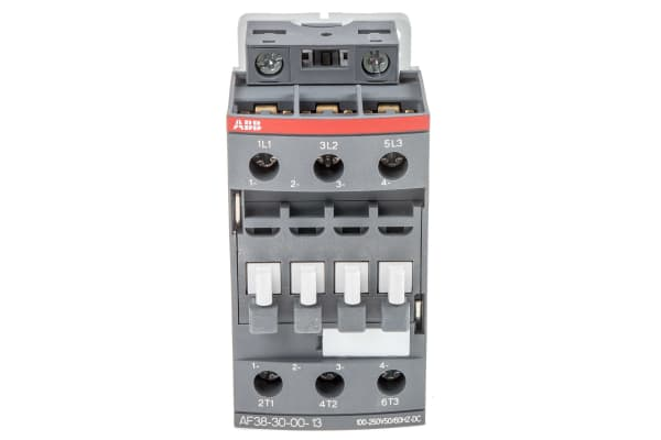 Product image for 3 Pole Contactor 18.5kW 100-250V AC/DC