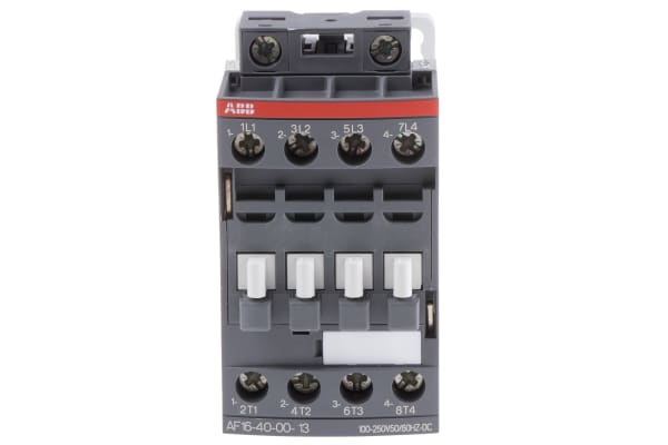 Product image for 4 Pole Contactor, 30A, 100-250VAC/DC,4NO